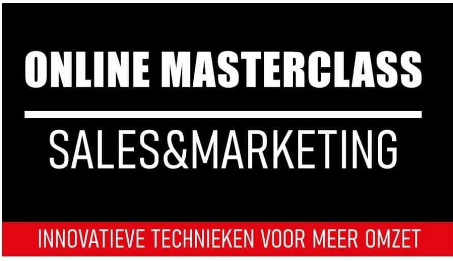Online Masterclass Sales En Marketing Innovatieve Technieken Voor Meer Omzet An Vermeulen En Yarlini Coaching